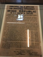 One of the remaining copies of the 1916 Proclamation of the Irish Republic