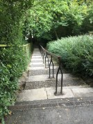 The steps from the Canal Walk up to Kilkenny Castle Grounds