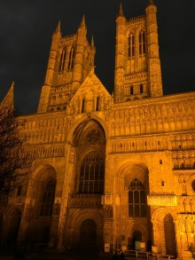 Lincoln Cathedral by night - 1