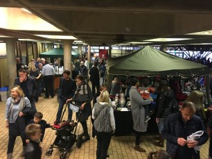 The Christmas Market inside the school building