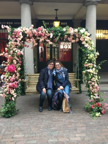 Flower swings at Covent Garden