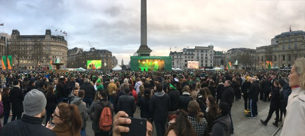 St Patrick's Day Party on Trafalgar Square