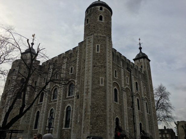 The massive White Tower - the origin of the Tower of London