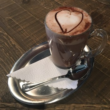 One last swiss hot chocolate before I went back to London