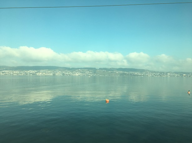 Driving past Lake Zurich on my way back to Basel