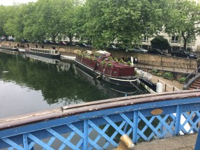 Small Houseboats taking residence in Little Venice