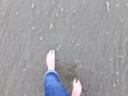 I love cooling my feet down in cold sea water