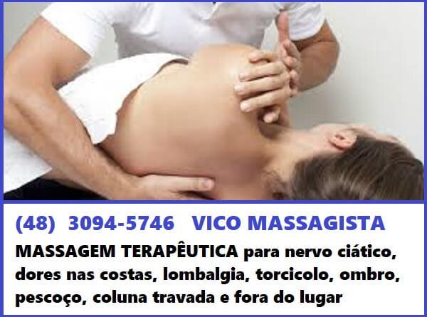 Vico Massagista - Coluna Travada Fora do lugar, Dor nas Costas, Dor Lombar, Dor na Coluna - Massagem Terapêutica, Quiropraxia, Massoterapia, Acupuntura - São José, SC - 1b