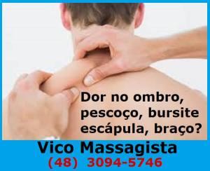 Shiatsu e Do-In - Vico Massagista, São José SC, Dor no ombro pescoço travado bursite escápula cervical paleta braço tendinite