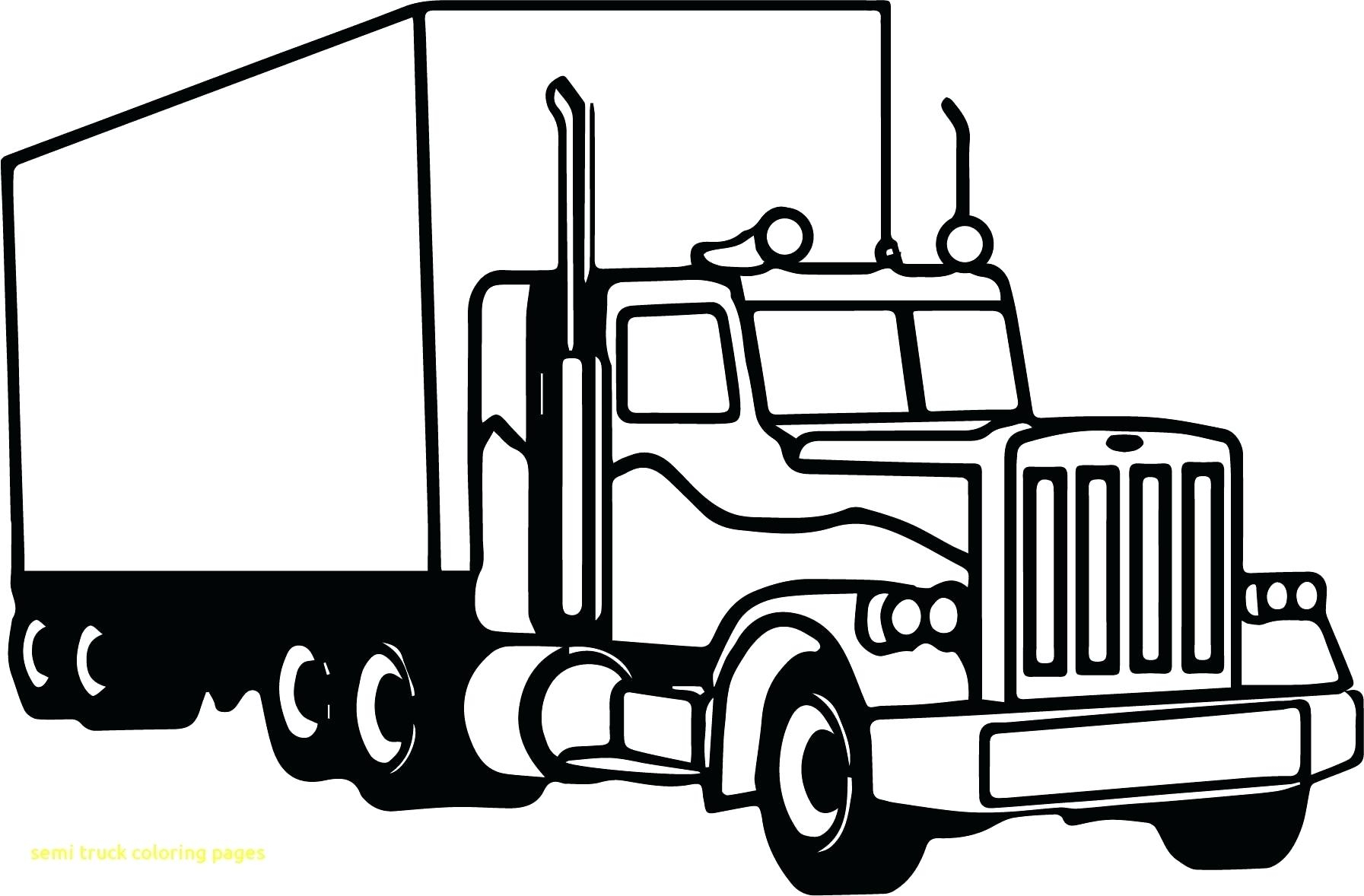 Excellent Picture Of Big Truck Coloring Pages