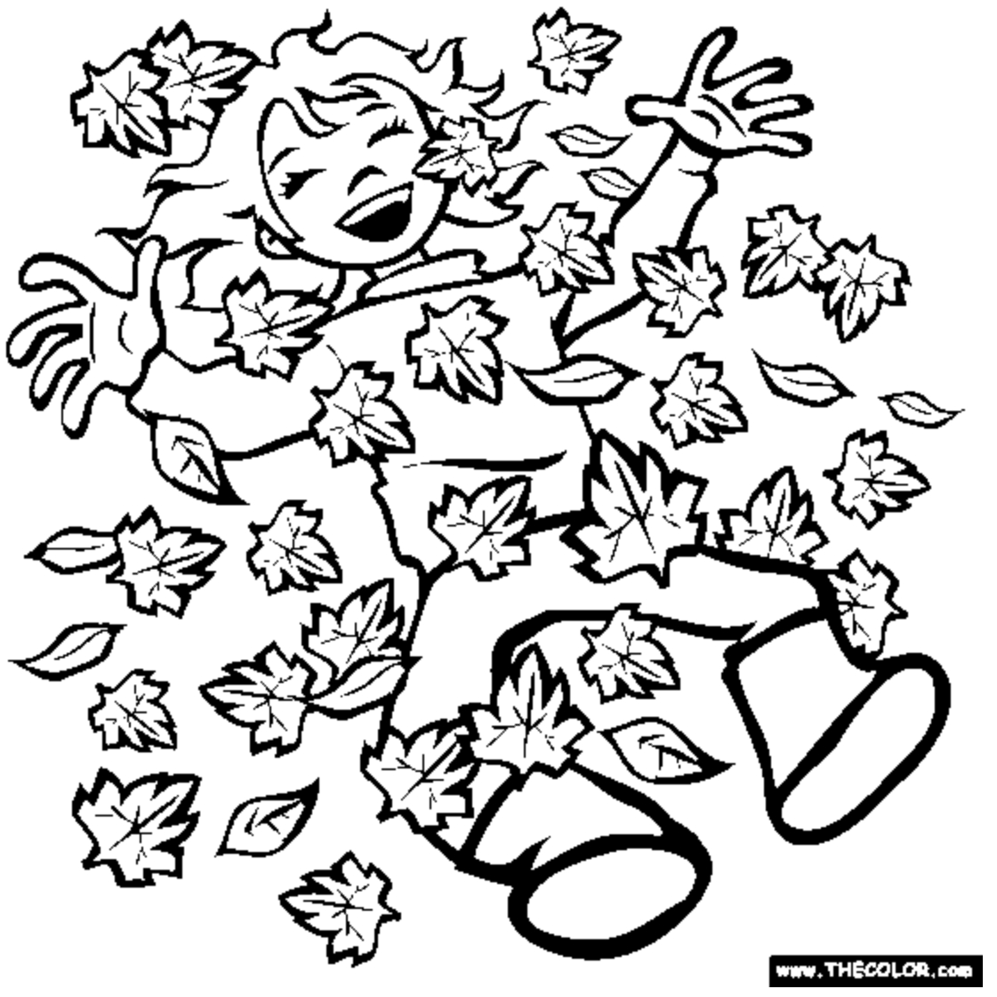 Amazing Picture Of Coloring Pages Autumn Season
