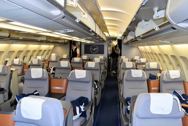 Lufthansa Business Class Stühle im A340-300