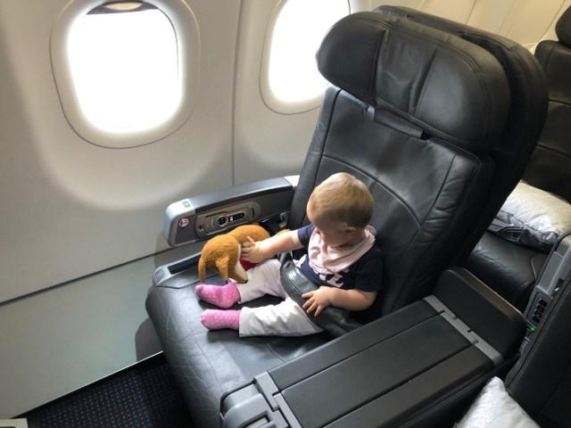 Sitztest American Airlines Flug AA69 nach Kona, Hawaii in der Business Class