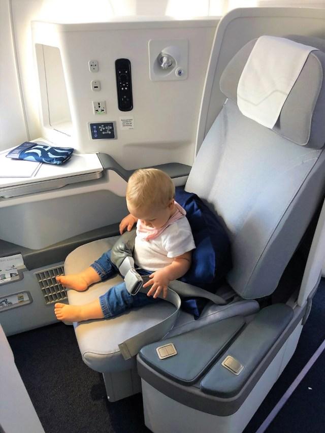 Sitztest der Finnair Business Class im Airbus A350