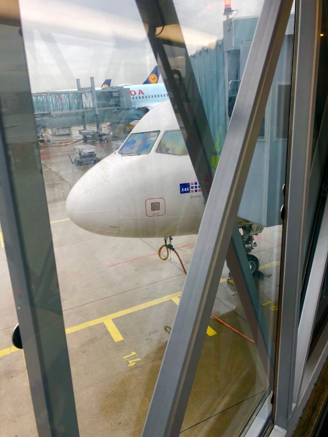 Einsteigen in den SAS Airbus A320 München - Kopenhagen