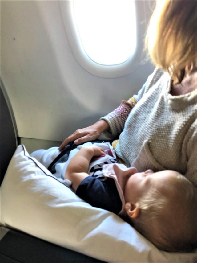 Schlafen bei Start und Landung ist die angenehmste Art