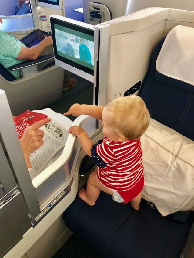 Baby in British Airways Business Class