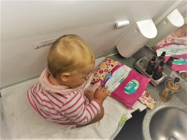 Klein und ausreichend: Wickeln an Board Airbus A320