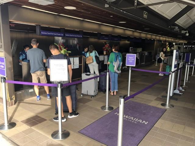 Check-in Area Kona Airport, Hawaii