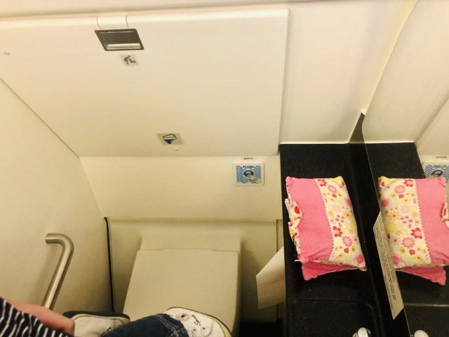 Schmale und schöne Toilette im Turkish Airlines  Airbus A321