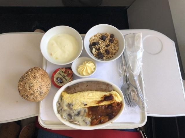 SAA South African Airways Domestic Business Class Frühstück - schlimmer als in jeder Economy