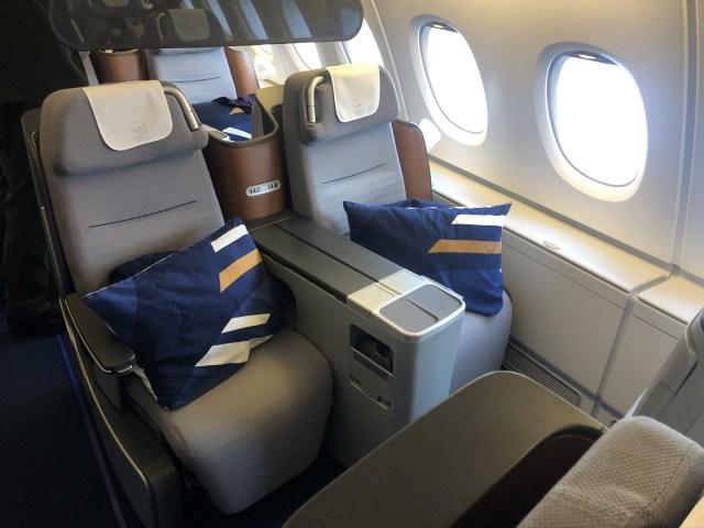 Lufthansa Business Class von 2012 - Schönes Design aber nicht mehr zeitgemäß
