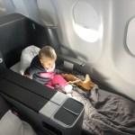 Fertig machen zum Schlafen in der Eurowings Business Class Airbus A330-300