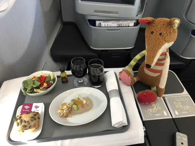 Vorspeise in der Eurowings Business Class auf der Langstrecke