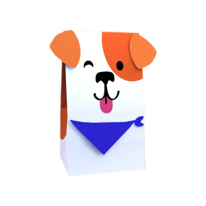 Paper Bag with Dog Face
