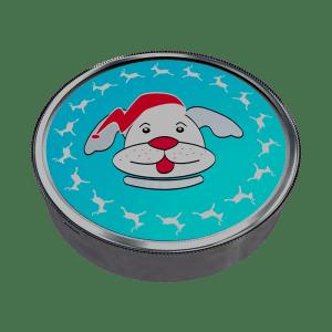"""Silver box """"Christmas dog"""