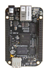 An image of a Beaglebone Black from the top