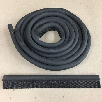 1/2″ Door Weatherstrip Black Rubber W/5/8″ Wired Tail 10 Ft
