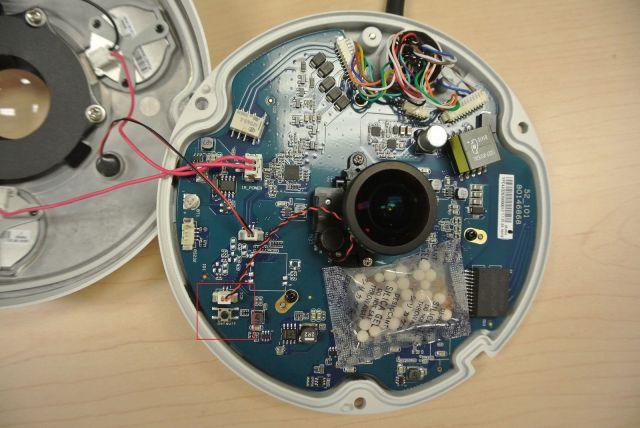 démonter caméra surveillance paramètres usine