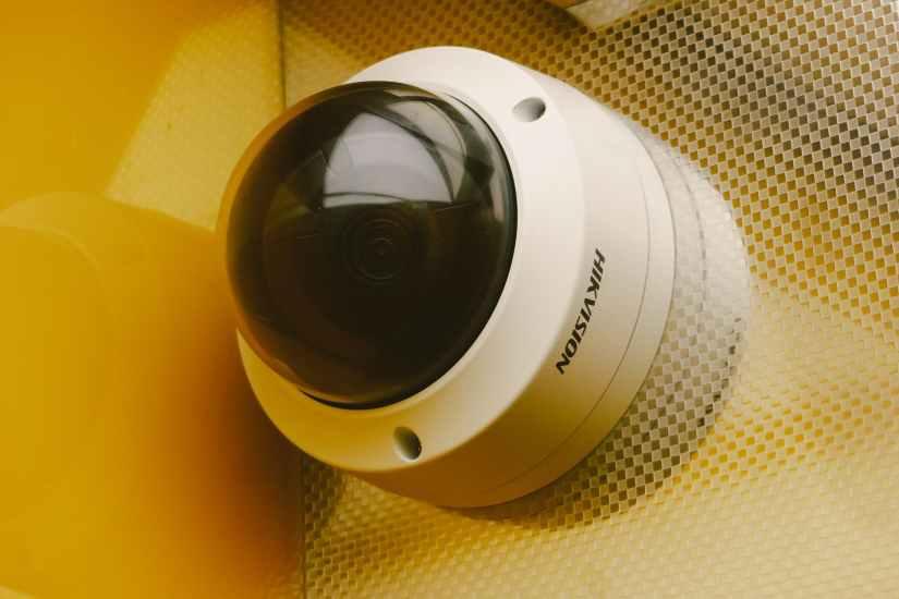 modern equipment for video surveillance on wall