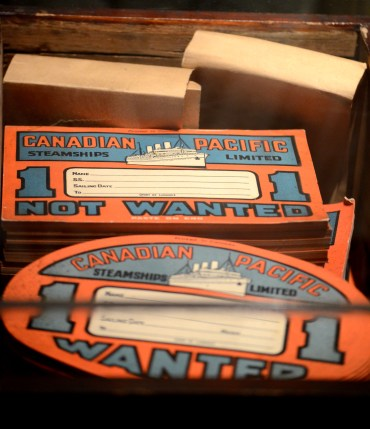 vintage boat tickets