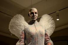 A dress made of straws at Designmuseum Danmark