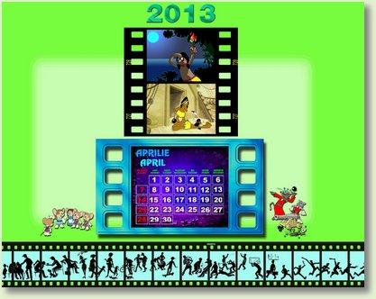 Calendar aprilie 2013