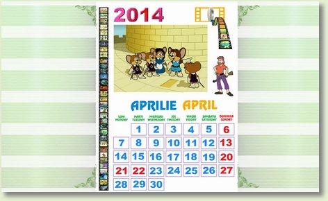 calendar aprilie 2014