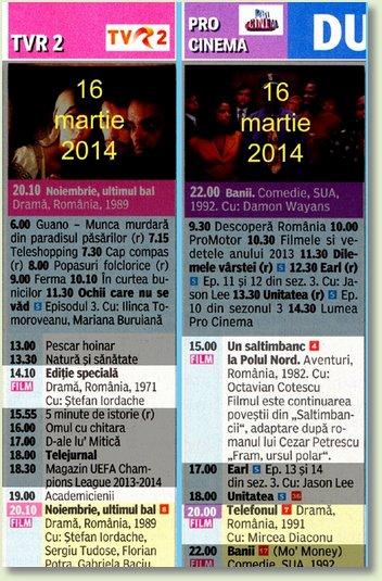 D MARTIE 16 TVR2 - PROCINEMA 2