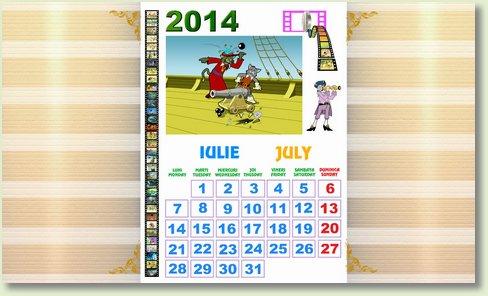 calendar iulie 2014