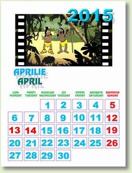 Calendar aprilie 2015