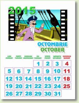 Calendar octombrie 2015