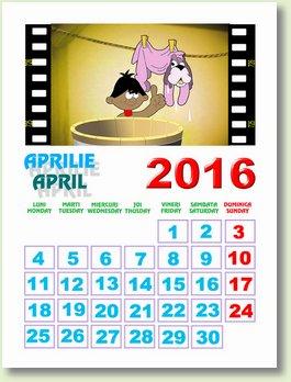 calendar aprilie 2016