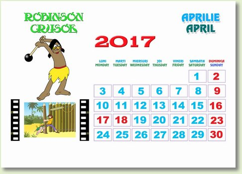 Calendar aprilie 2017