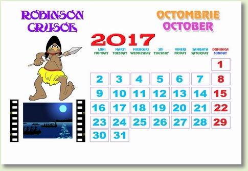 Calendar octombrie 2017