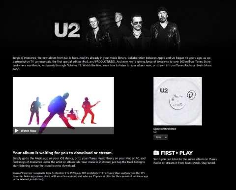U2-Apple-Free-Album-Download