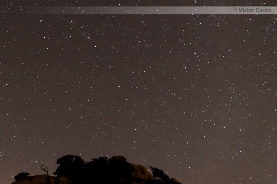 victor cerón, fotografia, perseidas, estrella, nocturna