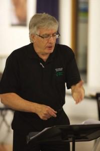 Henry Engbrecht leading rehearsal.