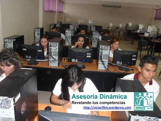 Estudiantes de 5°A-VAD utlizando TIC´s para el desarrollo de sus competencias