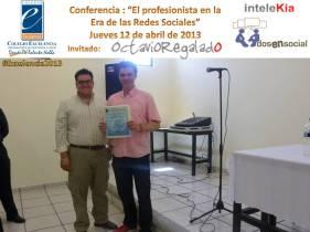 @OctavioRegalado en Colegio Excelencia con Mtro. Roel Ceballos.